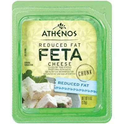Athenos feta reduced fat - low point cheese
