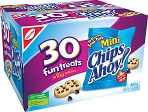 A box of Chips Ahoy Mini