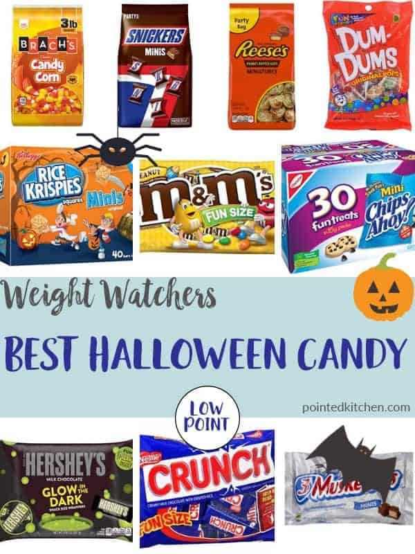 pictures of best halloween candy for weight watchers