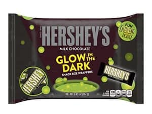Hersheys glow in the dark halloween chocolate