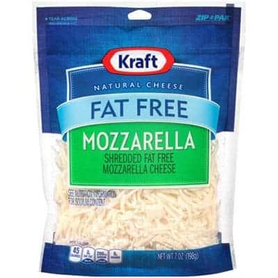 Kraft Fat Free Mozzarella - low point cheese