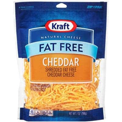 Kraft Fat Free Cheddar - low point cheese