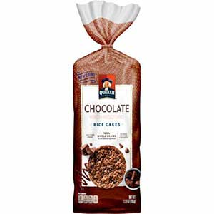 Quaker chocolate rice cake - low point chocolate