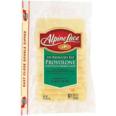 Alpine lace provolone smoked - low point cheese