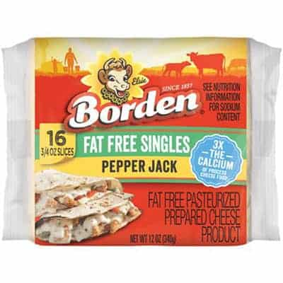 Bordens Fat Free Pepperjack - low point cheese