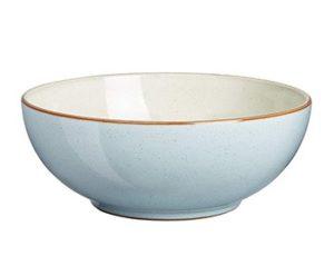 A blue Denby soup bowl