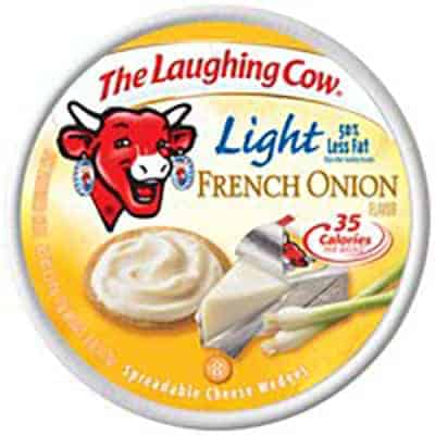 French Onion Laughing Cow - low point cheese