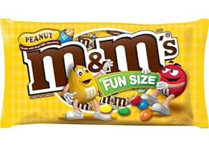 A packet of peanut m&m's