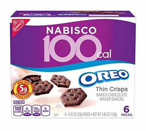 A box of Nabisco Oreo Crisps - low point chocolate
