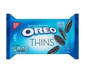 A packet of oreo thins - low point chocolate