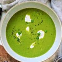 A bowl of pea soup