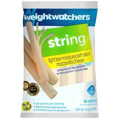 Weight Watchers string cheese - low point cheese