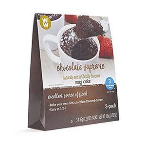 ww chocolate supreme mug cake - low point chocolate
