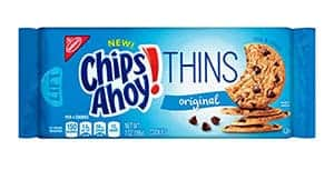A packet of Chips Ahoy thins
