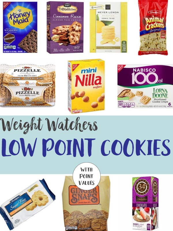 A collage of Low Point Cookies