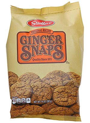 A packet of ginger snaps