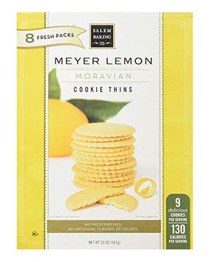 A box of Salem Baking Lemon thins