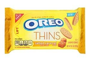 A packet of Salted Caramel Oreo thins
