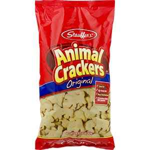 A bag of animal crackers