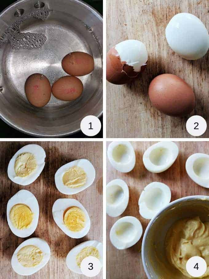Pictures of how to make devilled eggs