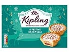 A box of Mr Kipling Festive bakewells
