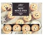 a box of Tesco finest mini mince pies