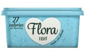 a tub of flora light