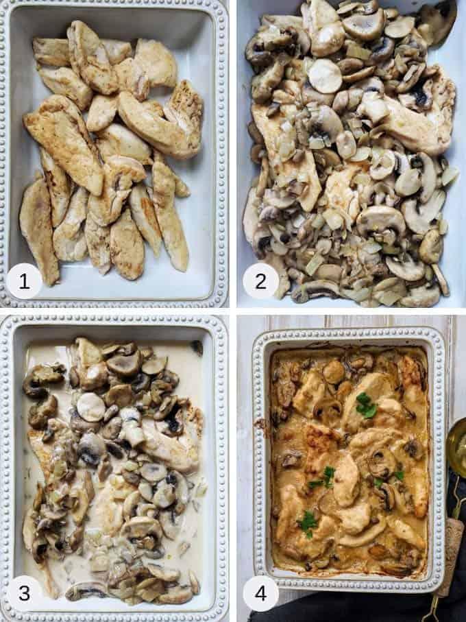 Picture on making creamy chicken casserole