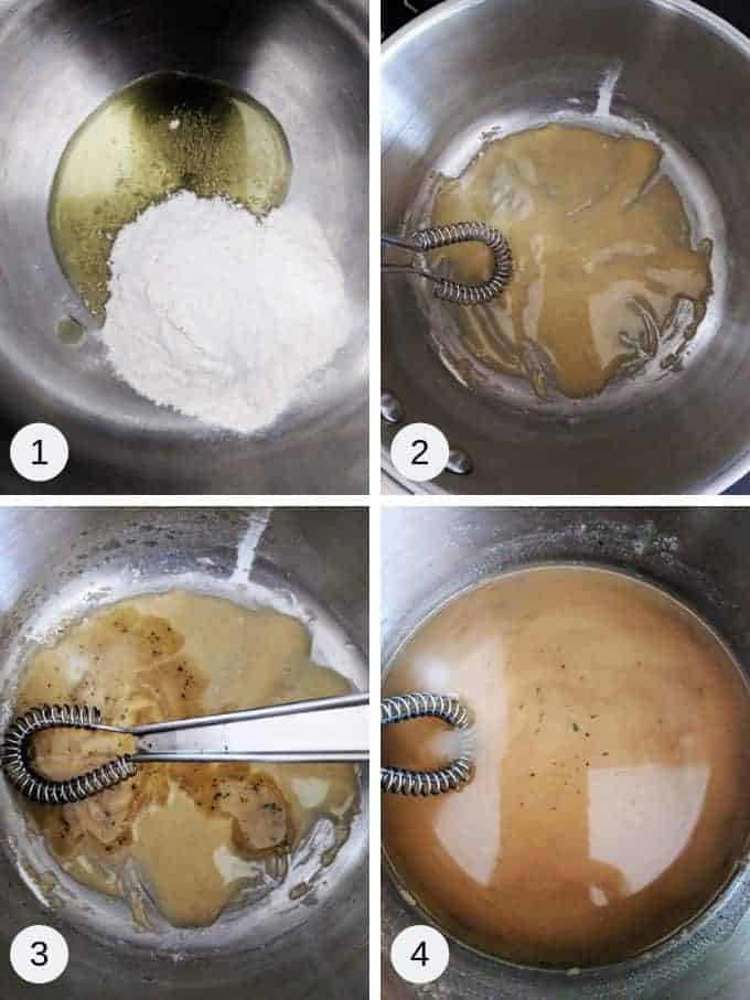How to make the sauce for the creamy chicken casserole