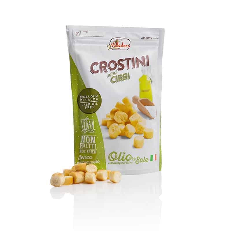 A bag of Valledoro Crostini