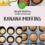 A collage of pictures of Banana Muffins