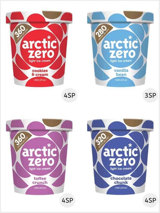 A selection of Arctic zero ice creams | low smartPoint ice creams