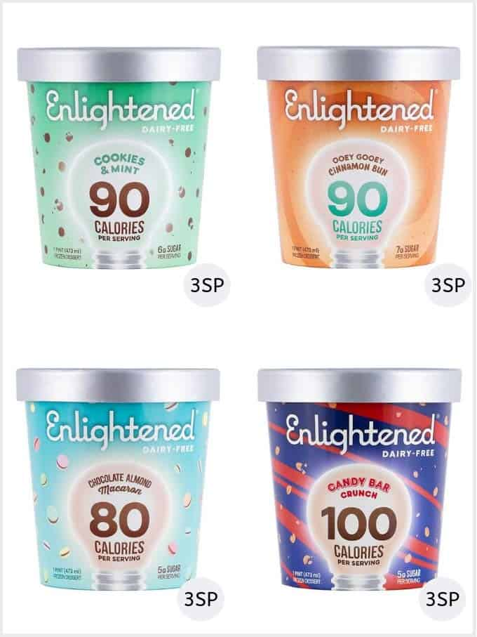 A selection of Enlightened dairy free ice creams
