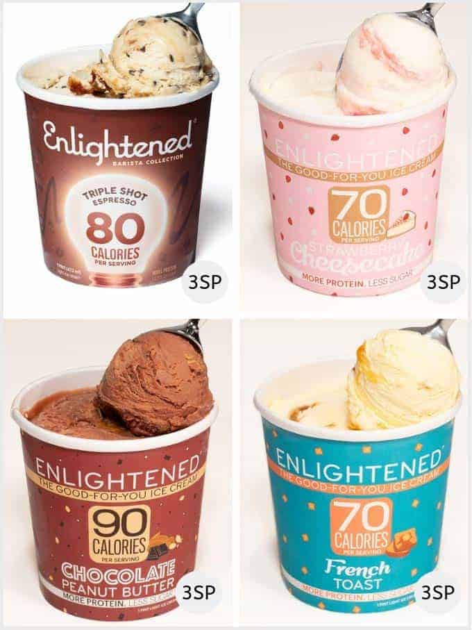A slection of Enlightened ice creams