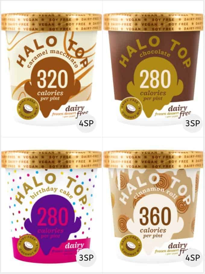A selection of Halo Top dairy free ice creams
