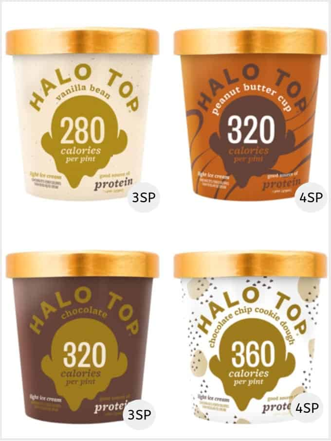 A selection of Halo Top Ice creams