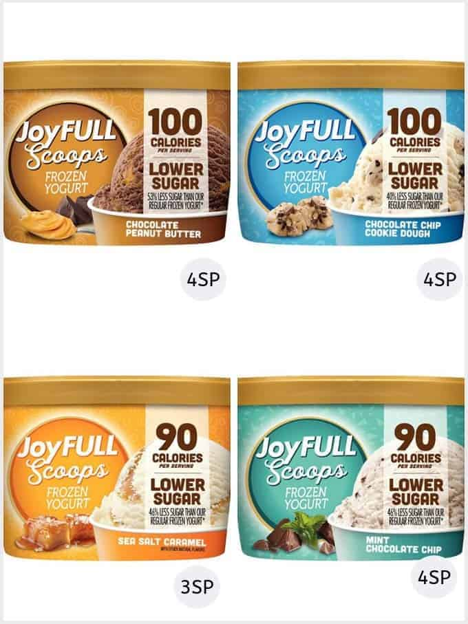 A selection of Joyful ice creams | low smartpoint ice creams weight watchers