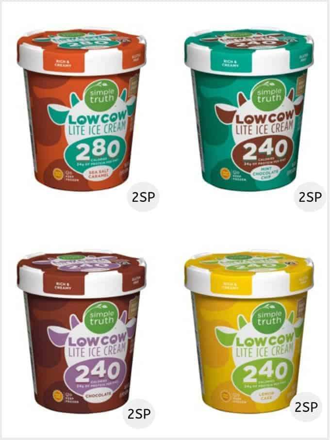 A selection of Simple Truth Low Cow Lite | Low SmartPoint Ice creams weight watchers