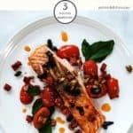 Weight Watchers Chorizo Salmon on a white plate
