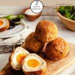 A platter of scotch eggs Weight Watchers
