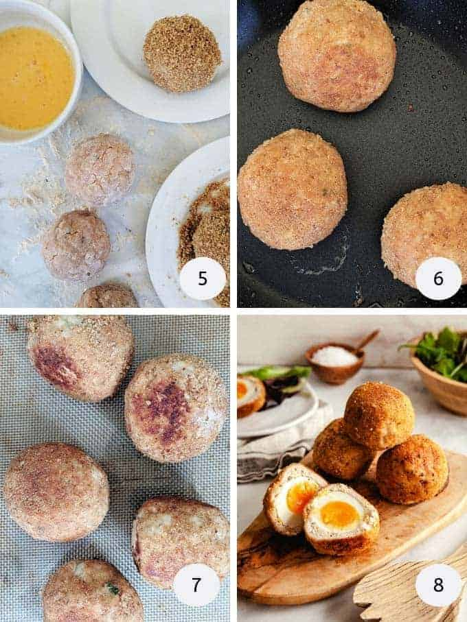 More pictures of making scotch eggs