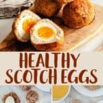 A pile of scotch eggs