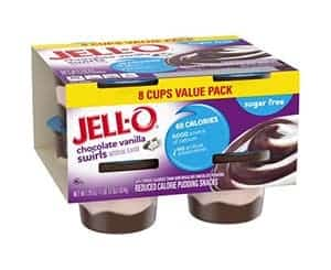 A pack of jell-o chocolate Vanilla Swirls
