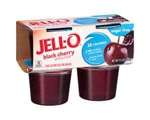 A box of Jell-o black cherry jello