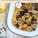 A dish of bread pudding with banana | weight watchers