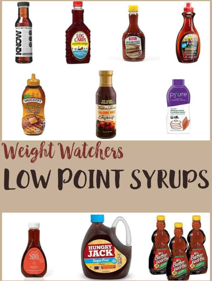 10 bottles of low point pancake syrups.