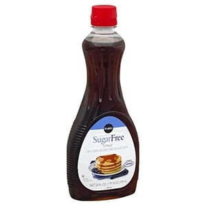 A bottle of Publix sugar free syrup