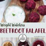 Pictures of making beetroot falafels