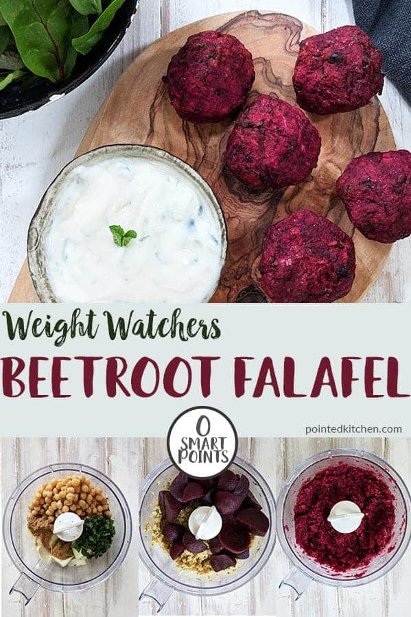 These easy Beetroot Falafel are zero Smart Points on Weight Watchers Freestyle plan. Eat them on their own or in pitta bread or flat bread for a delicious low point lunch. A perfect Weight Watchers snack recipe. #weightwatchersrecipeswithpoints #weightwatchersrecipes #weightwatcherslunchrecipes #zeropointrecipes