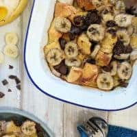Bread Pudding with Banana & Chocolate | Weight Watchers